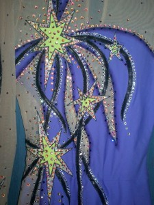 Purple and Lime Stars - Detail